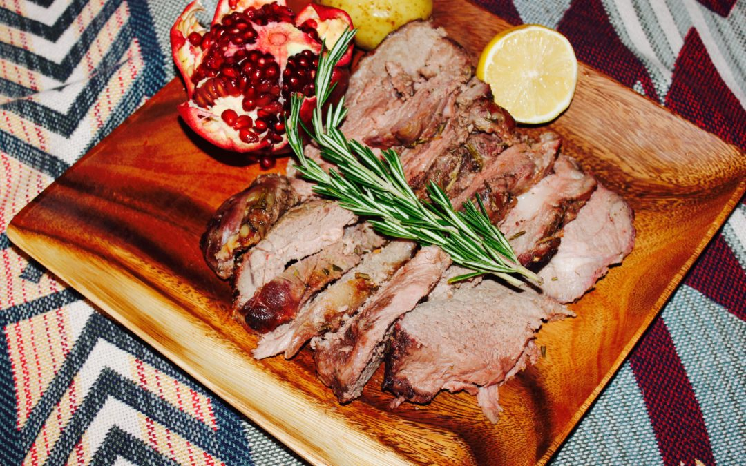 Sweet and Tangy Boneless Leg of Lamb