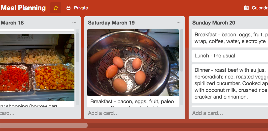 Trello For Meal Planning and Prepping